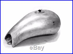 Parker One Piece Aluminum Gas Tank For Stretched Frame Harley Custom Fuel Tank