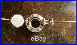 Polished Aluminum Hinged Speeder Style Gas Cap / Thread In Harley Or Big Dog