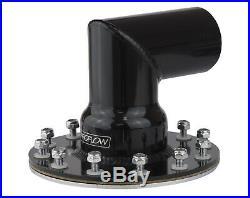 Proflow FCA004BK Fuel Filler Neck Aluminum Black, 90 Degree, 2 1/2 in. Diameter