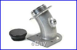 Remote Fuel Filler Angled With Billet Aluminum Cap For 2.0 Inch And 1/8 NPT Vent