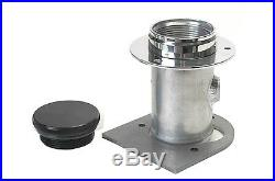 Remote Fuel Filler With Billet Aluminum Cap For 2.5 Inch Hose With 1/4 NPT Vent