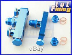 SALES! Billet Aluminum Twin Bosch 044 Fuel Pump Assembly Kit Anodized Blue