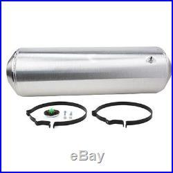 Spun Aluminum Hotrod Streetrod Fuel Tank, 11 Gallon, 10 x 33 Inch, Offset Outlet