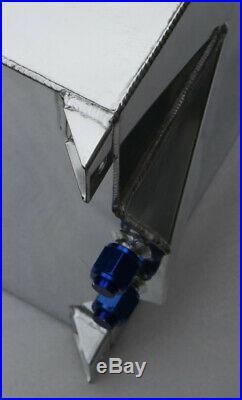 UK 15 Gallon/60L Non Sensor Aluminum Racing Drift Fuel Cell Tank With Foam