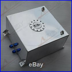 UK SHIPPING Non Sensor Aluminum 40L /10 Gallon Fuel Cell Tank AN10 In/Outlet