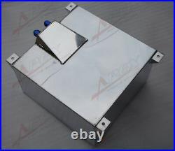 UK STOCK Non Sensor Aluminum 40L /10 Gallon Fuel Cell Tank AN10 In/Outlet