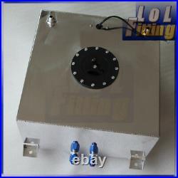 UK Universal Aluminum 40L 10 Gallon Fuel Cell Tank +GM Sending Unit +Safety Foam