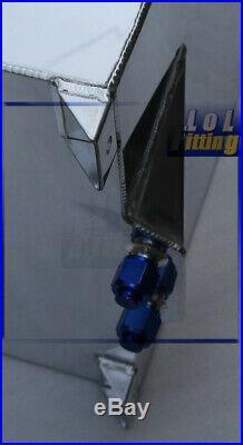 UK Universal Polished Lightweight Aluminum 40 Litre / 10 Gallon Fuel Cell Tank
