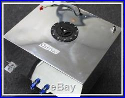 Universal 15 Gallon Polished Aluminum Fuel Tank Cell Pfd-2150ap Or Pce130.1004