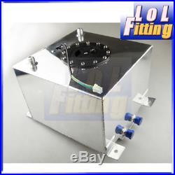 Universal Lightweight Aluminum 5 Gallon (20L) Fuel Cell Tank + GM Sending Unit