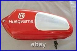 Vintage 1975 1980 Husqvarna Aluminum OEM gas fuel tank CR very good condition
