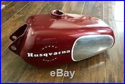 Vintage Mid 70s Husqvarna Aluminum Gas Tank Fuel Tank WR CR GP 250 360 400 NICE