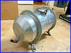 Vintage Spun Aluminum 3-1/2 Gal Fuel Tank & Moon Brackets For Rat Rod Or Gasser