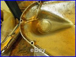 Vintage triumph pre unit aluminum primary engine clutch cover case