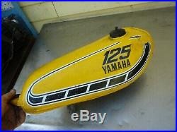 Yamaha 125 YZ AHRMA YZ125 Alloy Aluminum Gas Fuel Tank 1975 1976 WD-101