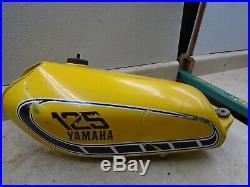 Yamaha 125 YZ AHRMA YZ125-X Aluminum Alloy OEM Gas Fuel Tank 1976 YB277 WD