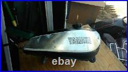 Yamaha 1980 XT/TT 500 aluminium fuel tank. Used, originalpaint and decals, COMPL