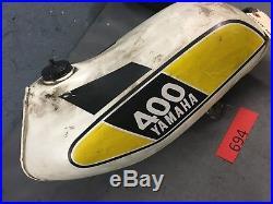 Yamaha MX 400 B MX400B 1975 Fuel Gas Tank Aluminum Original Motocross vintage