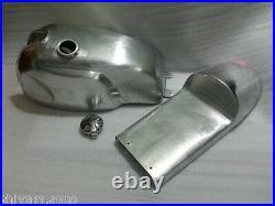 Yamaha Sr500 Cafe Racer Body Kit Manx Gas Fuel Petrol Tank & Seat Pan Aluminium@