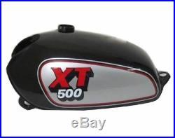 Yamaha Xt Tt 500 Silver & Black Painted Aluminum Petrol Fuel Tank 1980 Model GEc