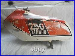 Yamaha used DT250 Aluminum Gas / Fuel Tank with Cap & Petcock. (RG)