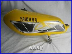 Yamaha used YZ100, 1977, Aluminum Gas / Fuel Tank, with petcock & cap. (RG)